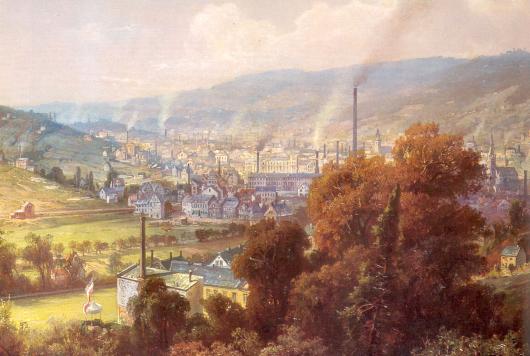 Wuppertal Elberfeld um 1850